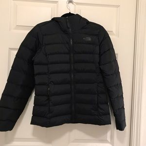 TNF Hooded stretch down jacket